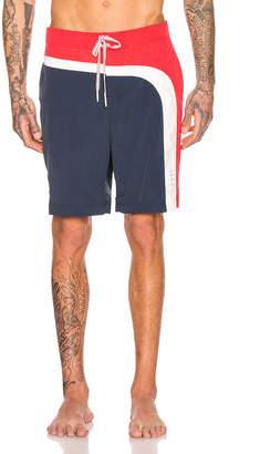 Thom Browne Board Shorts in Navy   FWRD