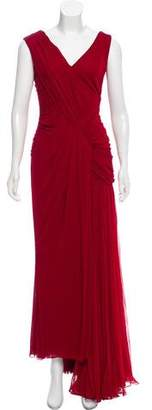 J. Mendel Pleated Sleeveless Gown