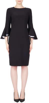 Joseph Ribkoff Dress with contrast ruffle Sleeve