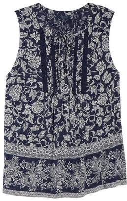 Lucky Brand Sleeveless Lace Trim Top