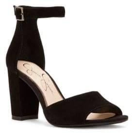 Jessica Simpson Sherron Suede Ankle-Strap Sandals