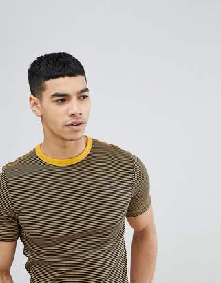 G Star G-Star Micro Stripe Logo T-Shirt
