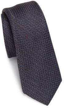 Saks Fifth Avenue MODERN Chelsea Textures Silk & Wool Blend Tie