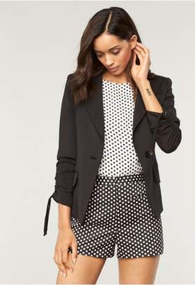 Milly Italian Stretch Suiting Gather Blazer