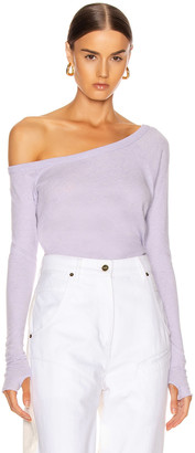 Enza Costa Cashmere Off Shoulder Long Sleeve in Iris | FWRD