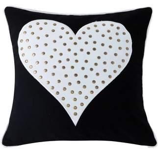 Stellah Studded Heart Accent Pillow
