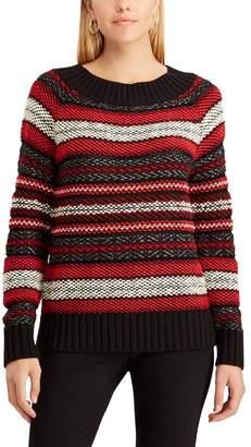 Chaps Women's Striped Scoopneck Sweater