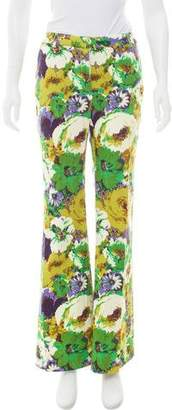 Blumarine Mid-Rise Floral Pants