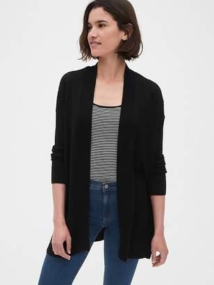 Gap Textured Longline Open-Front Cardigan Sweater