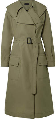 Joseph Damon Oversized Cotton-garbardine Trench Coat - Army green