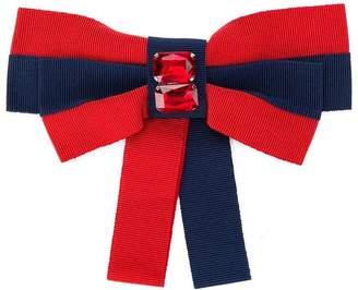 Piccola Ludo grosgrain ribbon bow brooch
