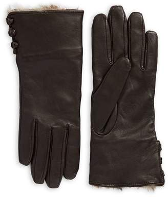 Fownes Brothers & Co. Fur-Lined Leather Gloves