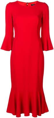 Dolce & Gabbana flared cuff peplum dress