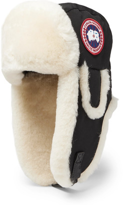 Canada Goose Shearling-Trimmed Shell Trapper Hat - Men - Black