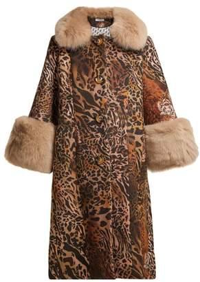 Saks Potts - Yvonne Leopard Print Wool Coat - Womens - Brown Print
