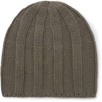 Brunello Cucinelli Cable-Knit Cashmere Beanie - Green
