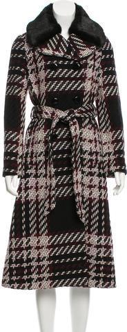 Kate SpadeKate Spade New York Faux Fur-Trimmed Tweed Coat w/ Tags