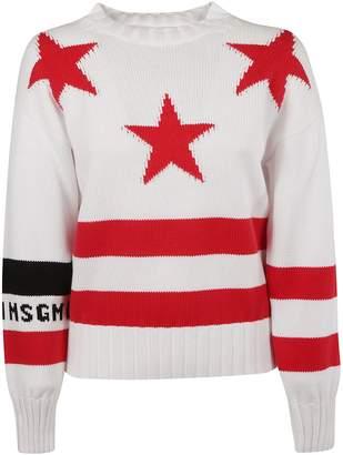 MSGM Star Knit Jumper