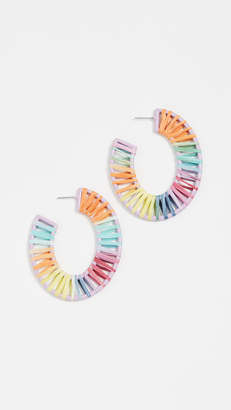 BaubleBar Renatta Rafia Hoop Earrings