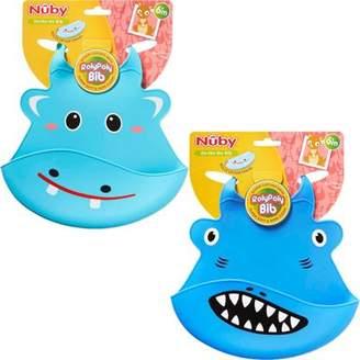 Nuby Roly Poly Animal Face Bibeasy Wipe Cleansoft-Flex Materialeasy Storage
