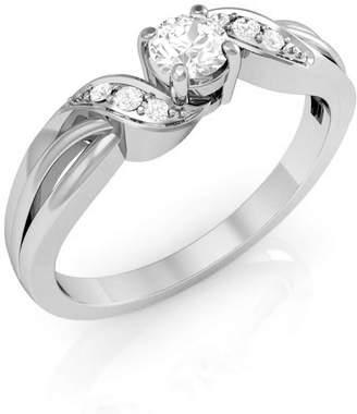 Panache Exports 0.22 Carat (ctw) 10K Gold Round Diamond Ladies Solitaire Bridal Engagement Promise Ring-6.5