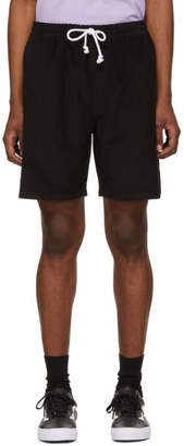 Noah NYC Black Corduroy Drawstring Shorts