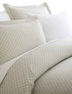Blissful Bedding Premium Ultra Soft Three-Piece Quadrafoil Pattern Duvet Cover Set
