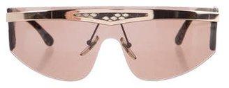 La Perla Snakeskin Shield Sunglasses $125 thestylecure.com