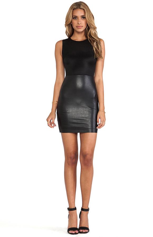 Bailey 44 Descryption Leather Dress