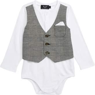 Bardot Junior Check Vest Bodysuit
