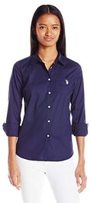 U.S. Polo Assn. Juniors Solid Single Pocket Long Sleeve Shirt