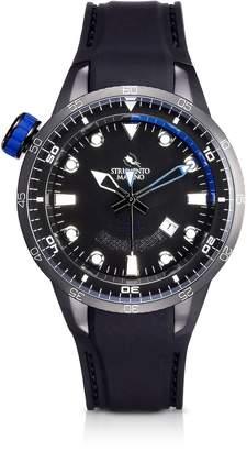 Strumento Marino Warrior Stainless Steel and Black Silicon Men's Watch