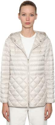 Max Mara 's Quilted Nylon Down Jacket W/ Hood