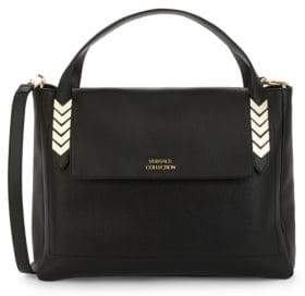 Versace Leather Top Handle Bag