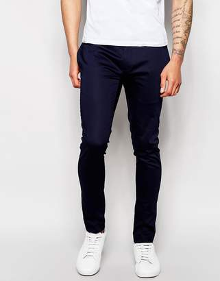 Asos Super Skinny Trouser In Cotton Sateen