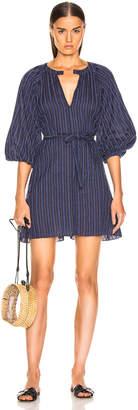 Lemlem Abha Belted Mini Dress in Navy | FWRD