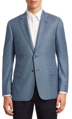 Emporio Armani Wool Tonal Geometric G Line Sportcoat