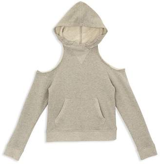 AG Adriano Goldschmied Kids Girls' Emma Cold-Shoulder Terry Hoodie - Big Kid