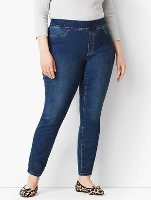 Talbots Plus Size Exclusive Pull-On Denim Jegging - Bayview Wash