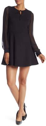 Cynthia Steffe CeCe by Dakota Long Sleeve Chiffon Dress