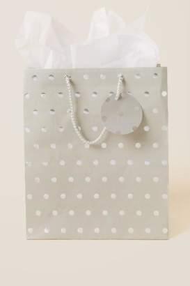 francesca's Silver Dots Large Gift Bag