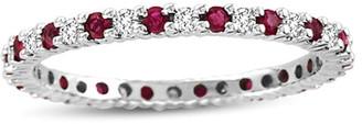 LeVian Suzy Diamonds Suzy 14K 0.55 Ct. Tw. Diamond & Ruby Eternity Ring