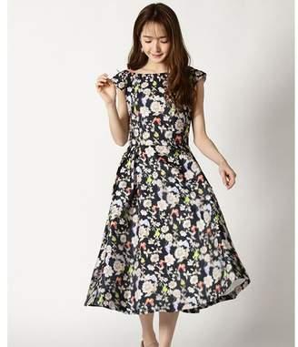 And Couture (アンド クチュール) - アンドクチュール HANYレジーナ柄3Dフラワー柄ドレス