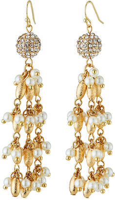 Lydell NYC Crystal & Pearly Dangle Earrings