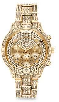 Michael Kors Runway Chronograph Goldtone Stainless Steel Watch