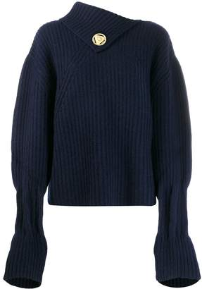 J.W.Anderson foldover neck ribbed jumper