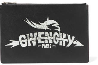 Givenchy Printed Faux Textured-leather Pouch - Black