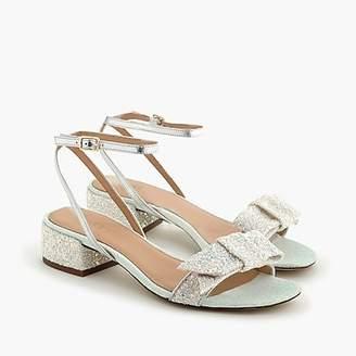 J.Crew Strappy block-heel sandals (60mm) in glitter