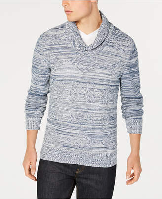 American Rag Men's Jacquard Shawl-Collar Sweater, Created for Macy's