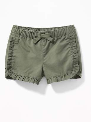Old Navy Ruffled Twill Pull-On Shorts for Baby
